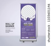 roll up banner design template  ... | Shutterstock .eps vector #1103601146