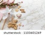 baby girl... | Shutterstock . vector #1103601269