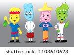 cartoon thailand people | Shutterstock .eps vector #1103610623
