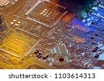 electronic circuit board close... | Shutterstock . vector #1103614313
