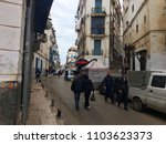 Small photo of Casbah, Algiers, Algeria - December 17, 2016: Algerian people walk on the narrow streets of the old city.