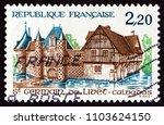 france   circa 1986  a stamp... | Shutterstock . vector #1103624150