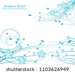 floral background design | Shutterstock .eps vector #1103626949