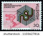switzerland   circa 1973  a... | Shutterstock . vector #1103627816