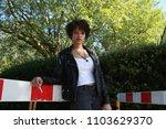 a beautiful fashion model... | Shutterstock . vector #1103629370