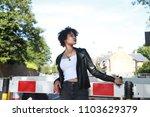 a beautiful fashion model... | Shutterstock . vector #1103629379