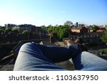 pov image of legs as the... | Shutterstock . vector #1103637950