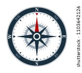 Vector Compass Rose On White...