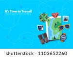 traveler's accessories.... | Shutterstock .eps vector #1103652260