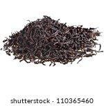 Dry Black Tea Leaves Isolated...