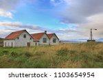 old abandoned houses overgrown... | Shutterstock . vector #1103654954
