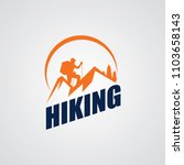 hiking club expedition logo... | Shutterstock .eps vector #1103658143