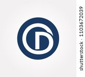 logo letter d vector.  | Shutterstock .eps vector #1103672039