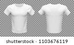 mockup of white basic unisex t... | Shutterstock .eps vector #1103676119