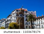 place of the emir abdelkader in ... | Shutterstock . vector #1103678174