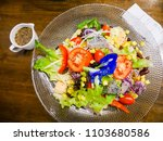 salad with vegetables and...   Shutterstock . vector #1103680586