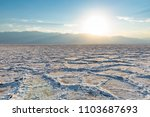 sunset landscape of salt flats... | Shutterstock . vector #1103687693