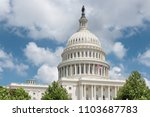 the united states capitol... | Shutterstock . vector #1103687783