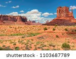 willd west   monument valley at ... | Shutterstock . vector #1103687789