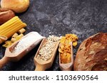 whole grain products with... | Shutterstock . vector #1103690564