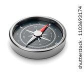 metallic compass with red... | Shutterstock . vector #1103693174