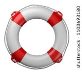 Lifebuoy Isolated On White...