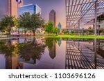 dallas  texas  usa downtown... | Shutterstock . vector #1103696126
