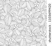 field of wild forest strawberry....   Shutterstock .eps vector #1103699420
