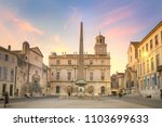 arles at dusk  view of the... | Shutterstock . vector #1103699633