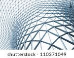 modern building with curving... | Shutterstock . vector #110371049