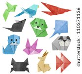origami animal made from... | Shutterstock . vector #110371136
