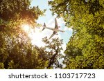 Airplane Flying Over Trees