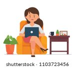 vector illustration young adult ... | Shutterstock .eps vector #1103723456