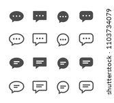 set chat icon isolated on white ...