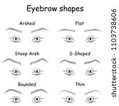 female eyes and eyebrows... | Shutterstock . vector #1103738606