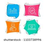 set of woman read  upper arrows ... | Shutterstock .eps vector #1103738996