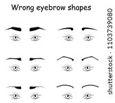 female eyes and wrong eyebrows  ... | Shutterstock . vector #1103739080