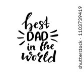father's day hand drawn... | Shutterstock .eps vector #1103739419