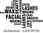 word cloud beauty salon words | Shutterstock .eps vector #1103739710