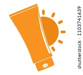uv sun cream logo. flat...   Shutterstock .eps vector #1103741639