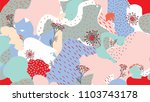 abstract seamless pattern with... | Shutterstock .eps vector #1103743178