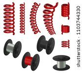coil spring flexible cable... | Shutterstock .eps vector #1103744330