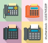 fax machine telephone icons set.... | Shutterstock .eps vector #1103745209