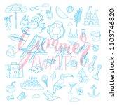set of hand drawn monochrome... | Shutterstock .eps vector #1103746820