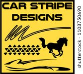 tribal and cool car stripe... | Shutterstock .eps vector #1103750690