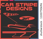 tribal and cool car stripe... | Shutterstock .eps vector #1103750696