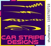 tribal and cool car stripe... | Shutterstock .eps vector #1103750723
