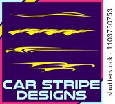 tribal and cool car stripe... | Shutterstock .eps vector #1103750753