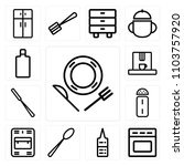 set of 13 icons such as dish ... | Shutterstock .eps vector #1103757920