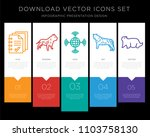 5 vector icons such as handout  ... | Shutterstock .eps vector #1103758130
